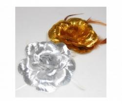 Haarschmuck Rose silber