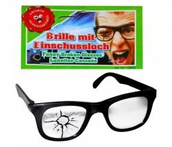 Brille mit Einschussloch