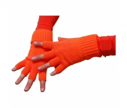 Handschuhe neon-orange