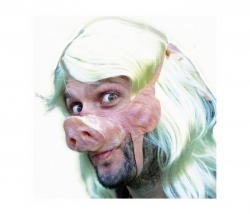 Halbmaske Piggy