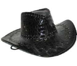 Cowboyhut Lack schwarz