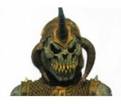 Maske Demonskull mit Cape