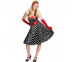 Kleid 50-er schwarz Gr. 36