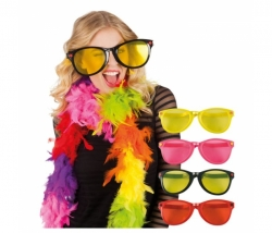 Brille Party Jumbo gelb