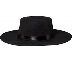 Zorro Hut schwarz