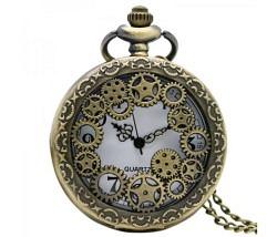 Retro Taschen Uhr Zahnrad