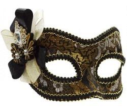 Maske schwarz-gold