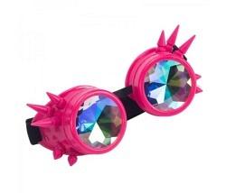 Brille Steampunk pink