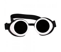 Brille Steampunk weiss