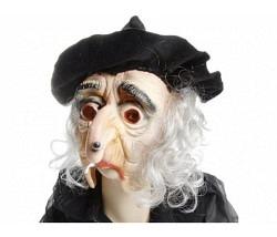 Maske Hexe Zahni mit Hut