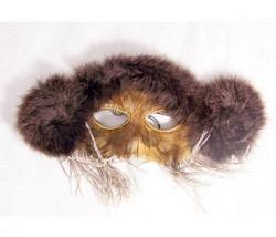 Maske Büffel mit Federn
