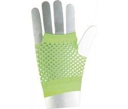 Netzhandschuhe kurz neon-grün