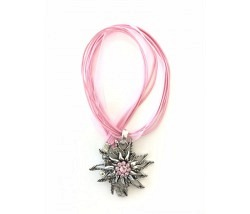 Edelweiss Halskette rosa