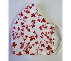 Maske Blätter rot